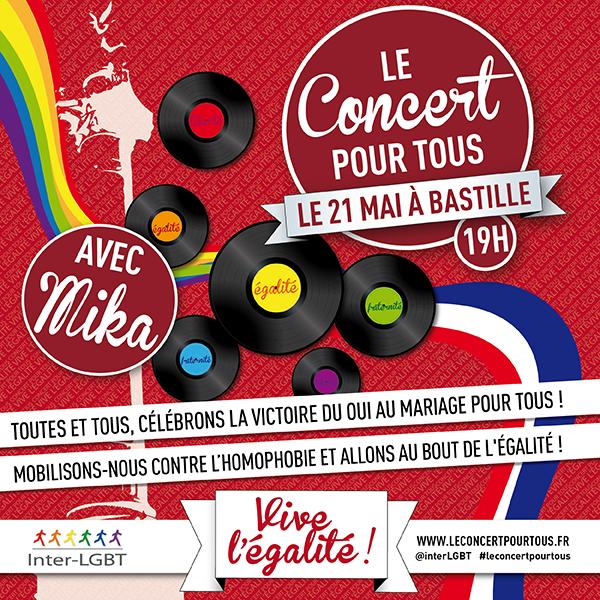 Mariage gay : «Concert pour tous» avec Mika le 21