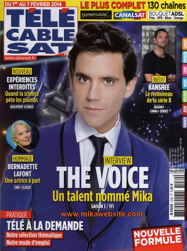 Mika fait la couverture de t l 7 jours t l c ble sat - Tele cable sat ...