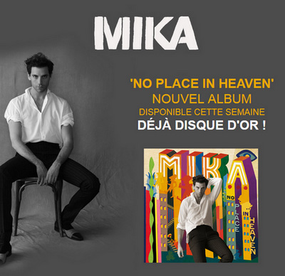 "album de Mika ""No Place In Heaven"" est déjà Disque d'Or - Mika ..."