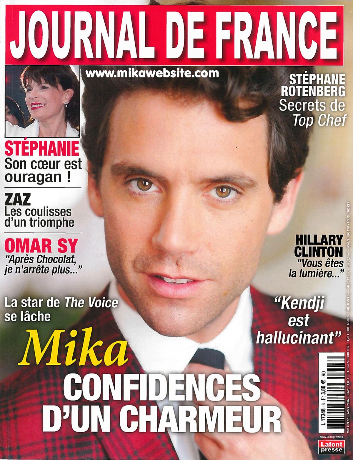 mika la une du magazine journal de france mika mikawebsite com le 1er site sur mika. Black Bedroom Furniture Sets. Home Design Ideas